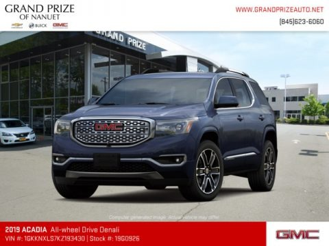 Blue Steel Metallic 2019 GMC Acadia Denali AWD