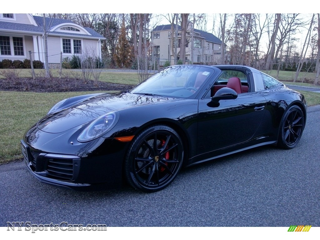 2017 911 Targa 4S - Black / Black/Bordeaux Red photo #1