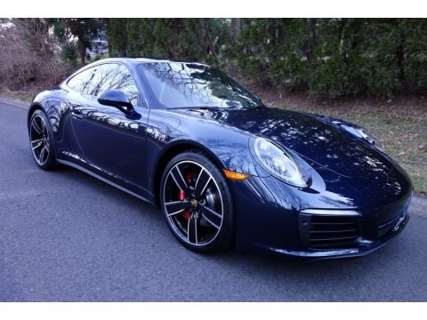Night Blue Metallic 2019 Porsche 911 Carrera 4S Coupe