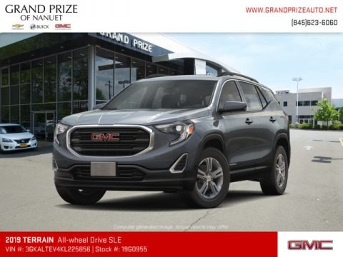 Graphite Gray Metallic 2019 GMC Terrain SLE AWD
