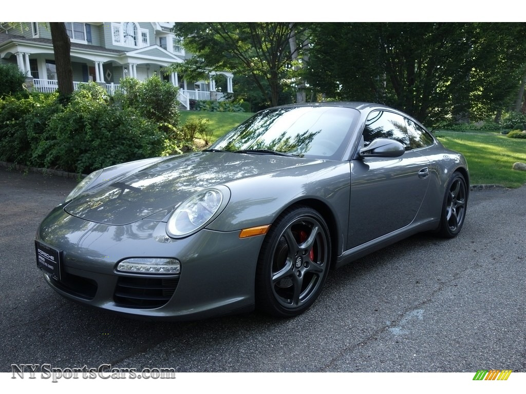 2012 911 Carrera S Coupe - Meteor Grey Metallic / Black photo #1