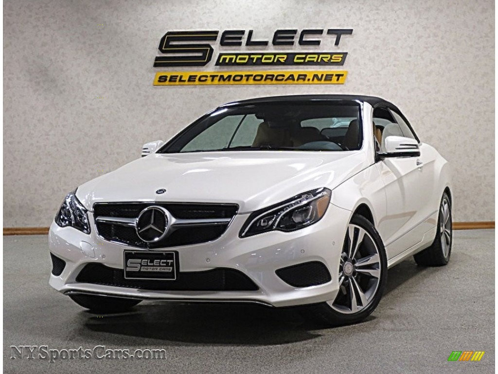 designo Diamond White Metallic / Natural Beige/Black Mercedes-Benz E 400 Cabriolet