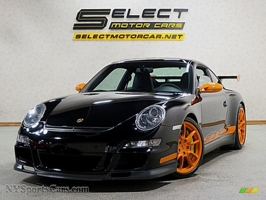 2007 911 GT3 RS - Black/Orange / Black w/Alcantara photo #1