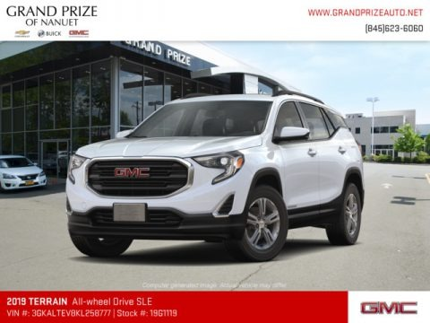 Summit White 2019 GMC Terrain SLE AWD