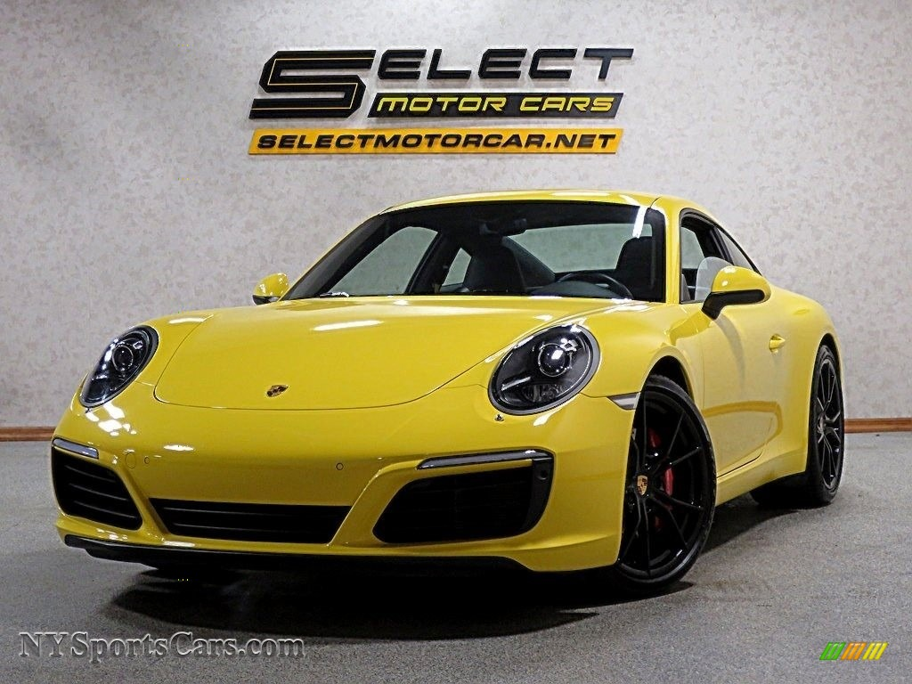 Racing Yellow / Black/Bordeaux Red Porsche 911 Carrera S Coupe