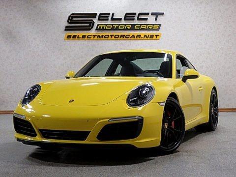 Racing Yellow 2017 Porsche 911 Carrera S Coupe