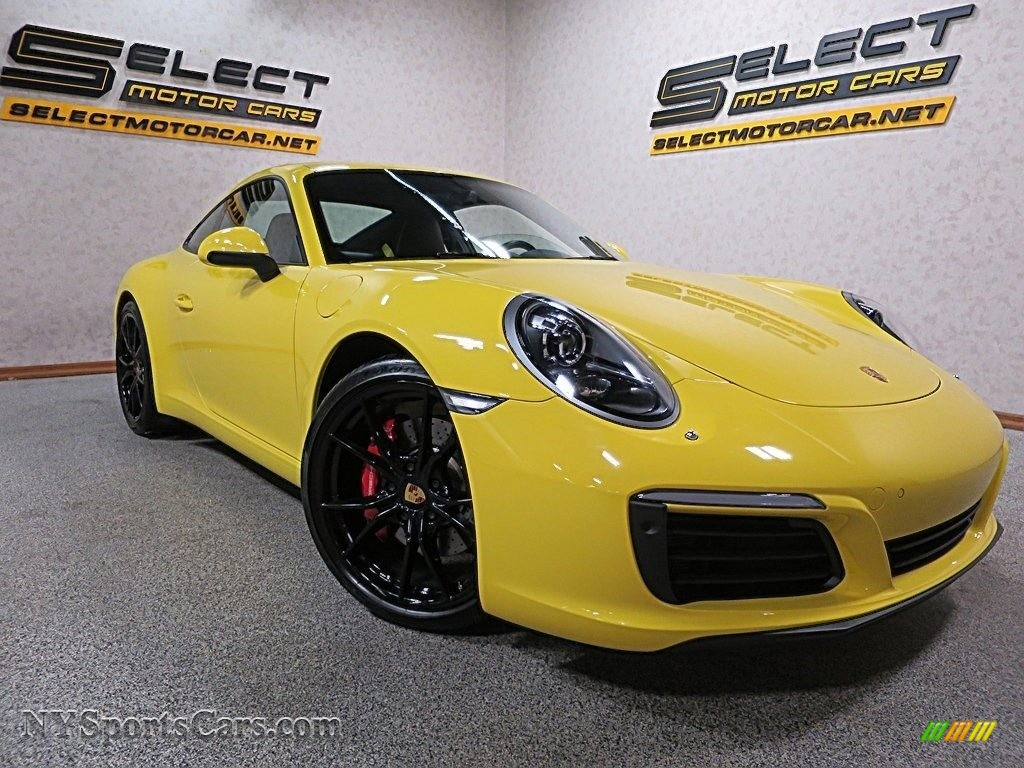 2017 911 Carrera S Coupe - Racing Yellow / Black/Bordeaux Red photo #9