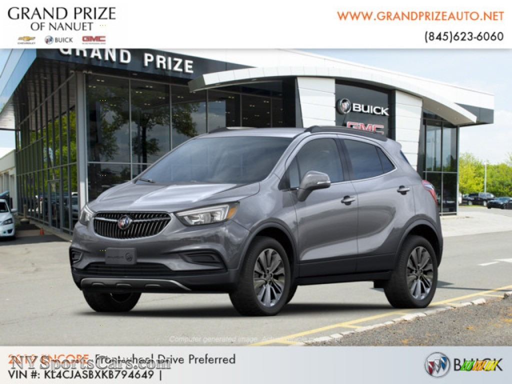 Satin Steel Metallic / Ebony Buick Encore Preferred