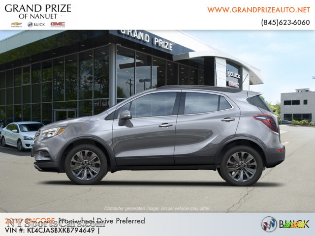 2019 Encore Preferred - Satin Steel Metallic / Ebony photo #2