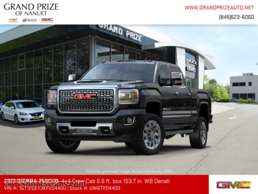 2019 Sierra 2500HD Denali Crew Cab 4WD - Onyx Black / Jet Black photo #1