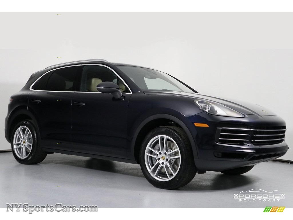 2019 Cayenne S - Moonlight Blue Metallic / Black/Mojave Beige photo #1
