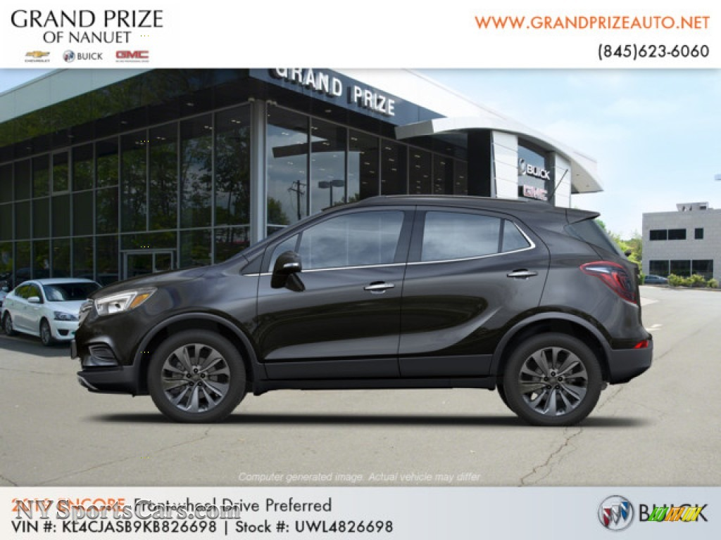 2019 Encore Preferred - Ebony Twilight Metallic / Ebony photo #2
