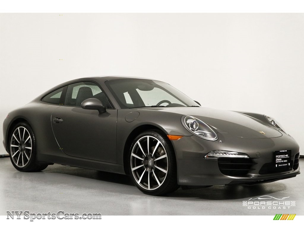 2014 911 Carrera Coupe - Agate Grey Metallic / Black photo #1