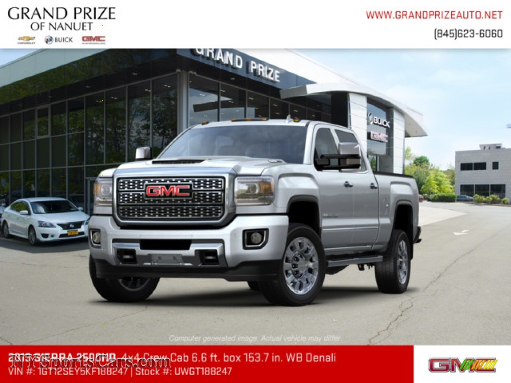 2019 Sierra 2500HD Denali Crew Cab 4WD - Quicksilver Metallic / Jet Black photo #1