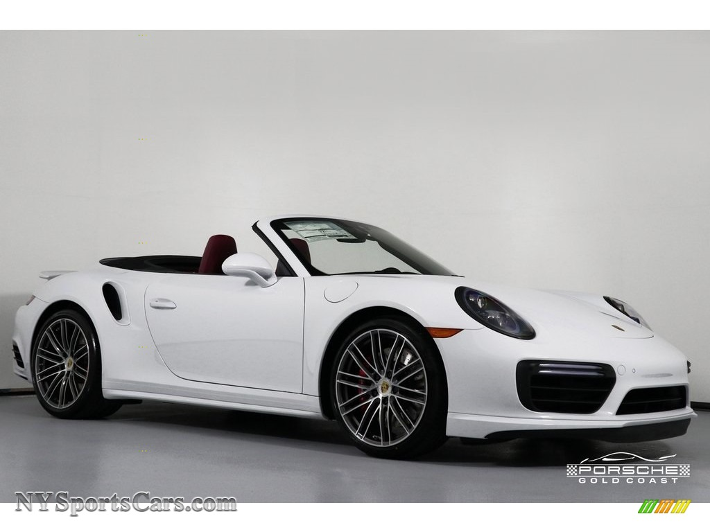 2019 911 Turbo Coupe - White / Bordeaux Red photo #1