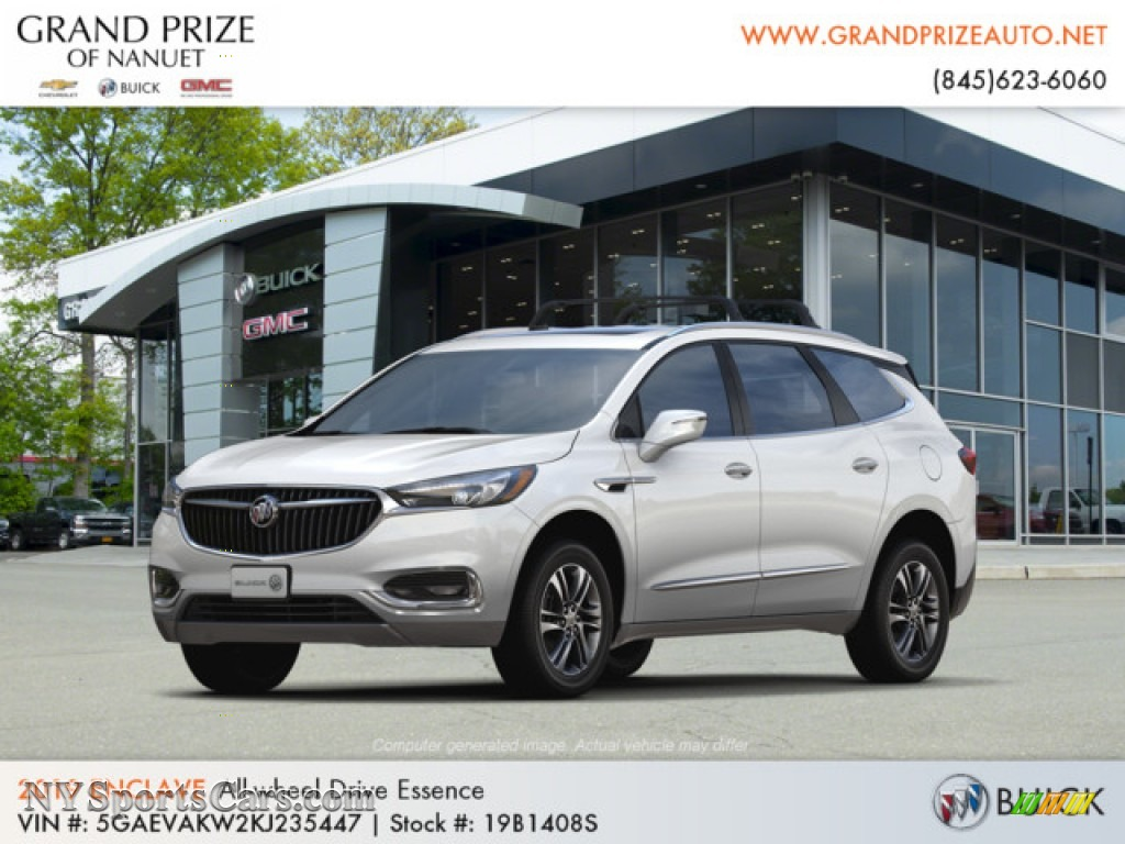 White Frost Tricoat / Dark Galvanized/Ebony Accents Buick Enclave Essence AWD