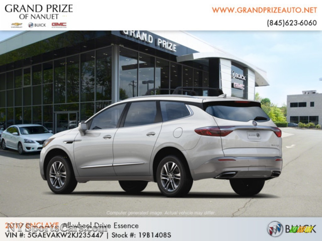 2019 Enclave Essence AWD - White Frost Tricoat / Dark Galvanized/Ebony Accents photo #3