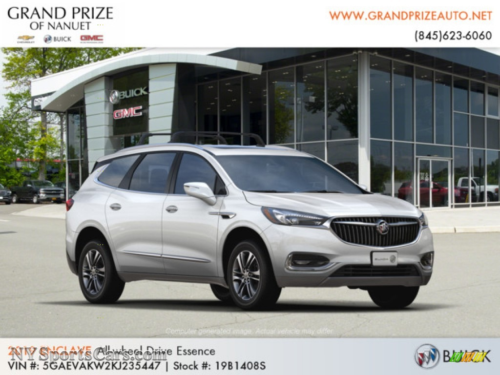 2019 Enclave Essence AWD - White Frost Tricoat / Dark Galvanized/Ebony Accents photo #4