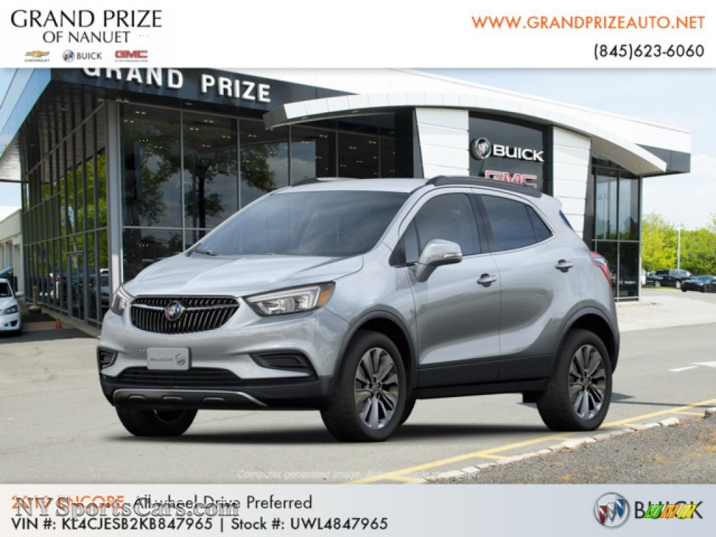Quicksilver Metallic / Ebony Buick Encore Preferred AWD