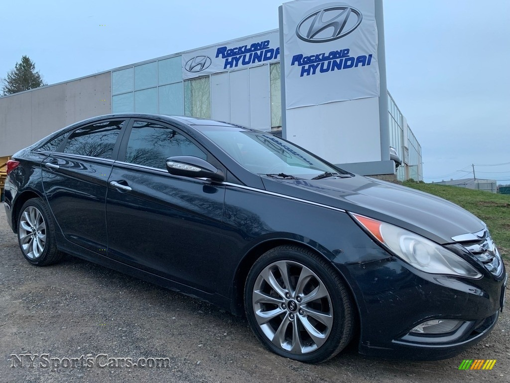 2012 Sonata Limited 2.0T - Pacific Blue Pearl / Gray photo #1