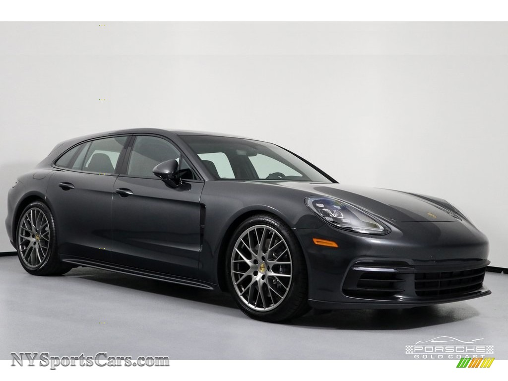 2019 Panamera 4 Sport Turismo - Volcano Grey Metallic / Black photo #1