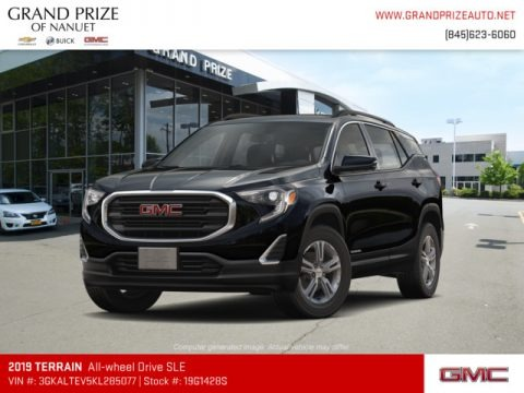 Ebony Twilight Metallic 2019 GMC Terrain SLE AWD