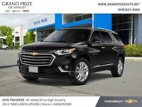 Mosaic Black Metallic 2019 Chevrolet Traverse High Country AWD
