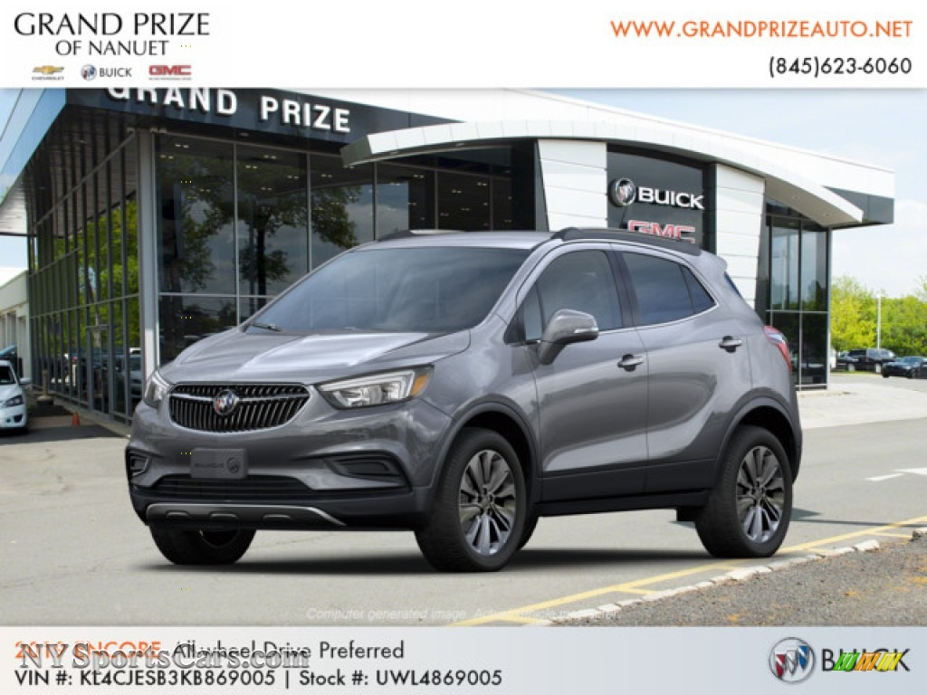 Satin Steel Metallic / Ebony Buick Encore Preferred AWD
