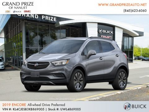 Satin Steel Metallic 2019 Buick Encore Preferred AWD