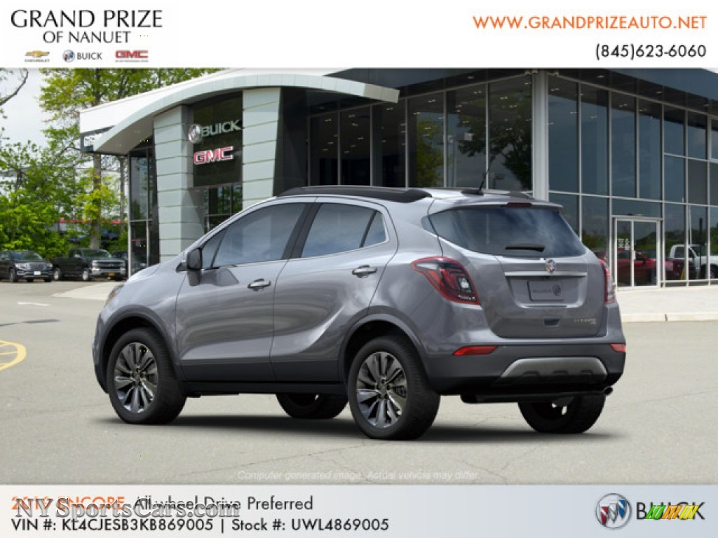2019 Encore Preferred AWD - Satin Steel Metallic / Ebony photo #3