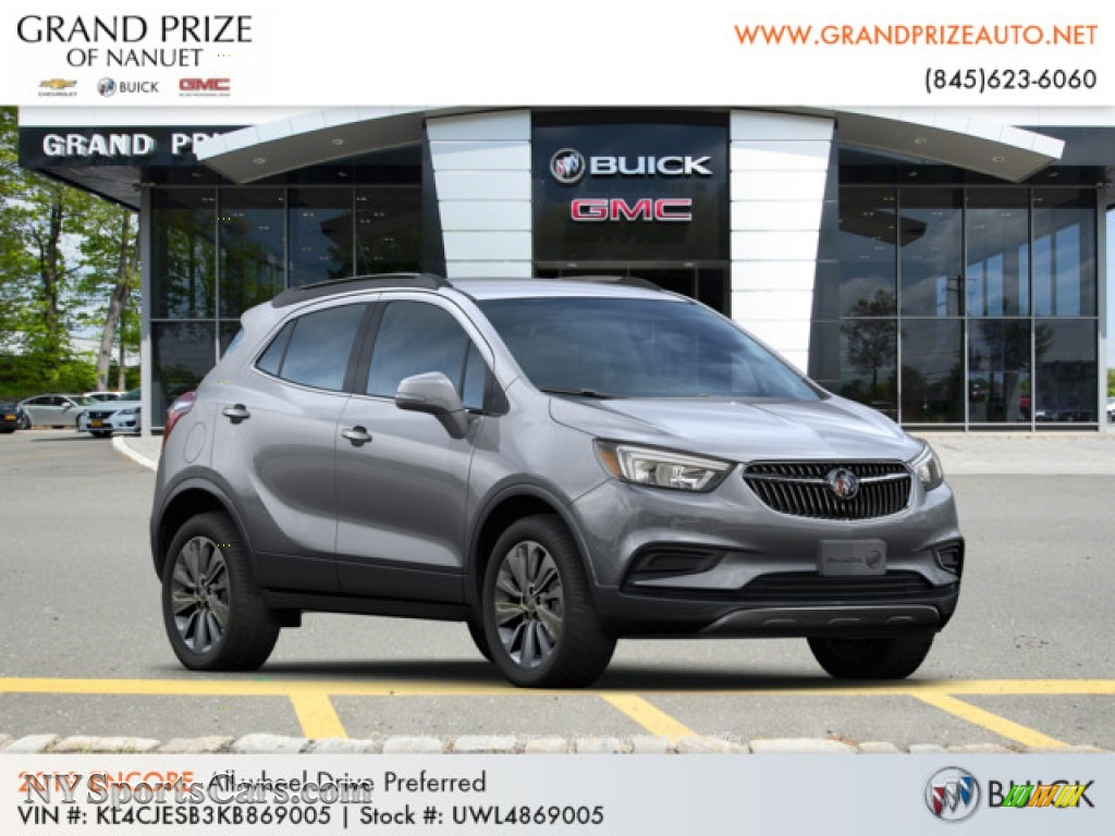 2019 Encore Preferred AWD - Satin Steel Metallic / Ebony photo #4
