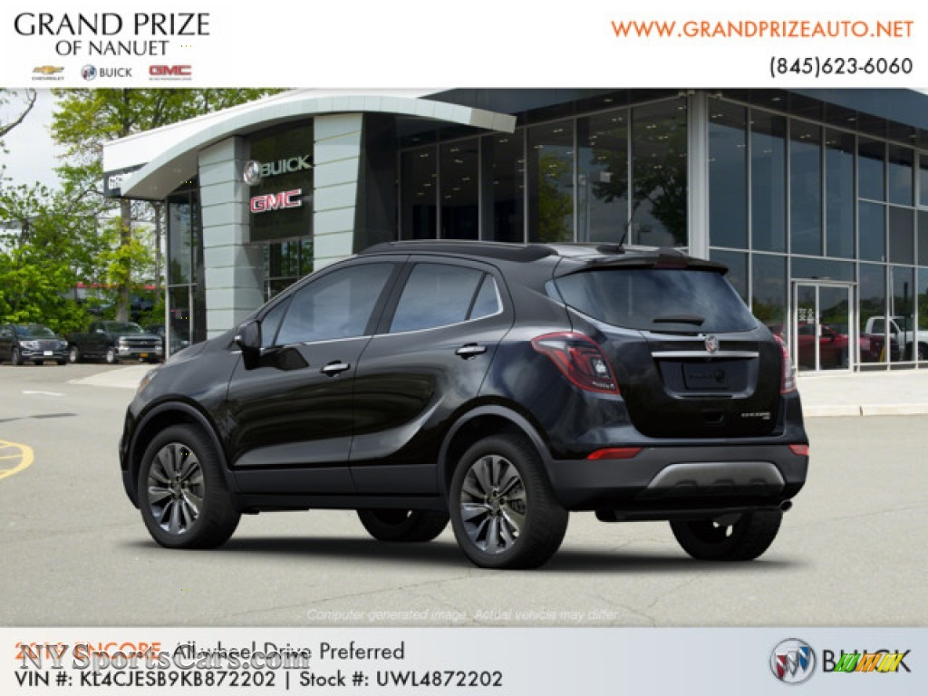 2019 Encore Preferred AWD - Ebony Twilight Metallic / Ebony photo #3