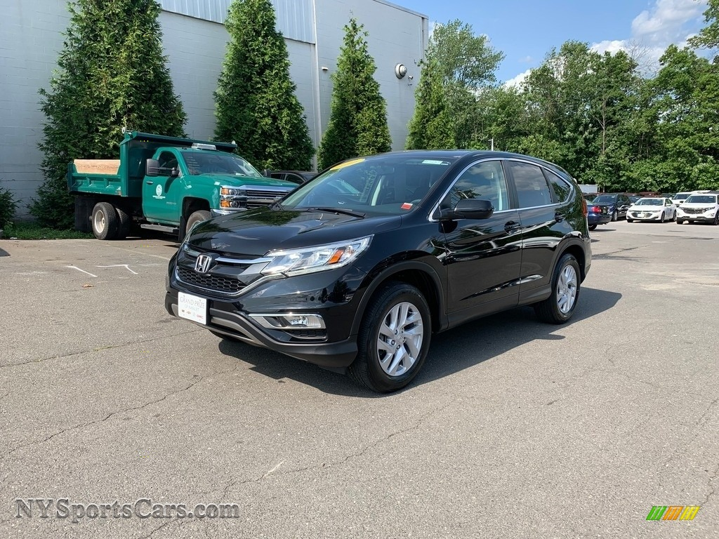 2016 CR-V EX AWD - Crystal Black Pearl / Black photo #2