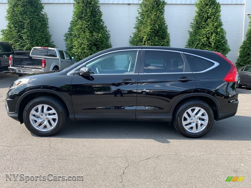 2016 CR-V EX AWD - Crystal Black Pearl / Black photo #5