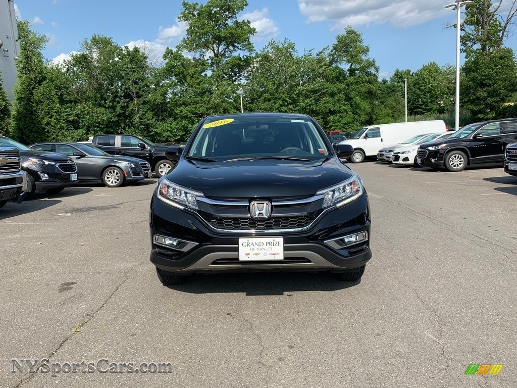 2016 CR-V EX AWD - Crystal Black Pearl / Black photo #8