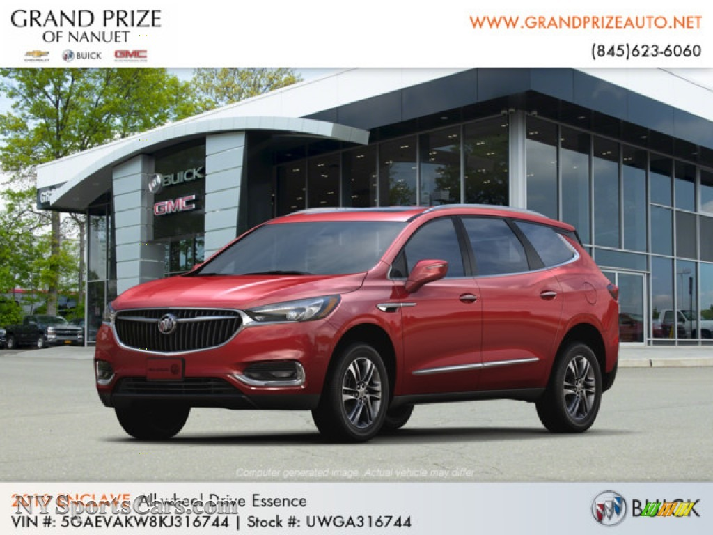 2019 Enclave Essence AWD - Red Quartz Tintcoat / Shale/Ebony Accents photo #1