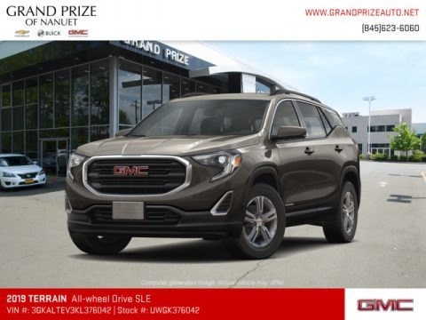 Smokey Quartz Metallic 2019 GMC Terrain SLE AWD