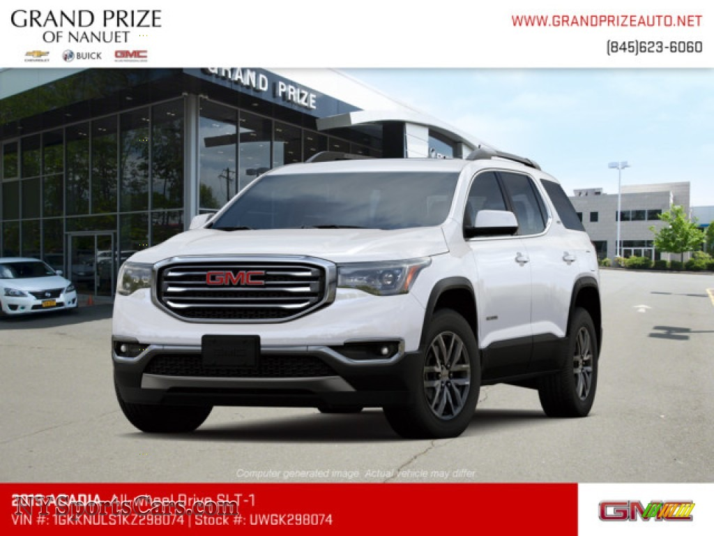 Summit White / Jet Black GMC Acadia SLT AWD