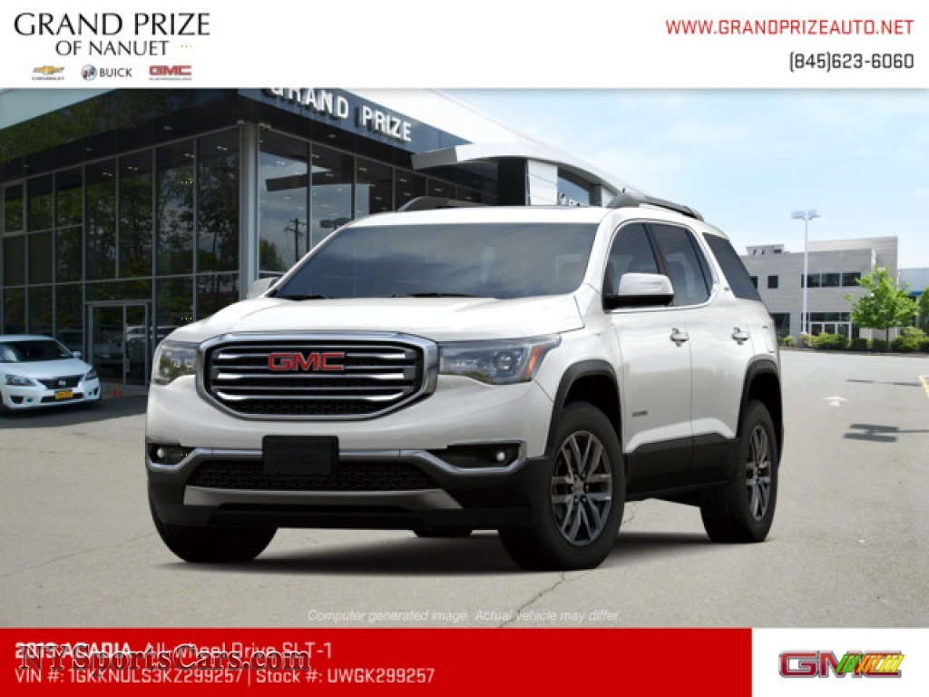 2019 Acadia SLT AWD - White Frost Tricoat / Jet Black photo #1