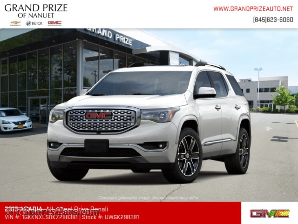 2019 Acadia Denali AWD - White Frost Tricoat / Cocoa/Shale photo #1