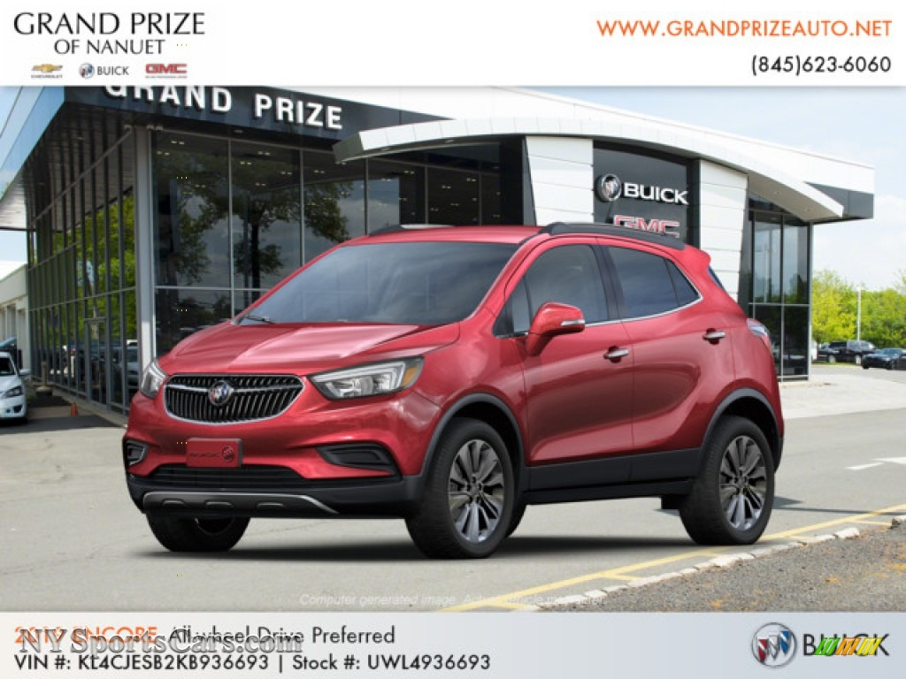 2019 Encore Preferred AWD - Winterberry Red Metallic / Ebony photo #1