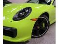 Porsche 911 Turbo S Cabriolet Paint To Sample Acid Green photo #11