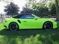 Porsche 911 Turbo S Cabriolet Paint To Sample Acid Green photo #21