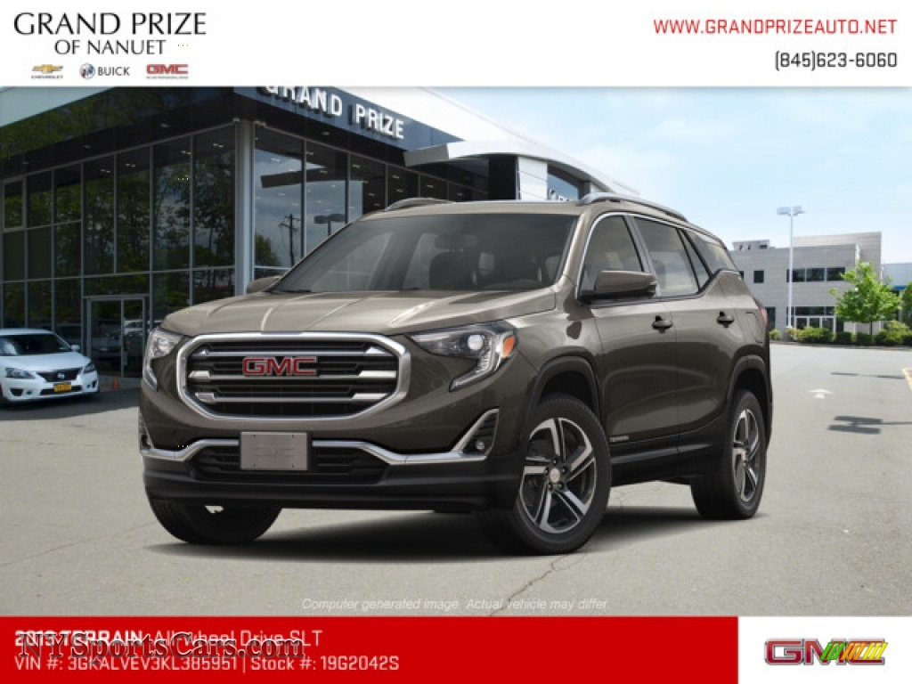 2019 Terrain SLT AWD - Smokey Quartz Metallic / Jet Black photo #1
