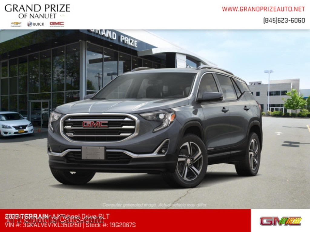 2019 Terrain SLT AWD - Graphite Gray Metallic / Jet Black photo #1