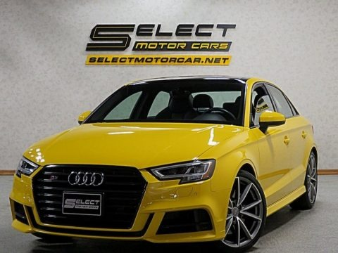 Vegas Yellow 2018 Audi S3 2.0T Tech Premium Plus