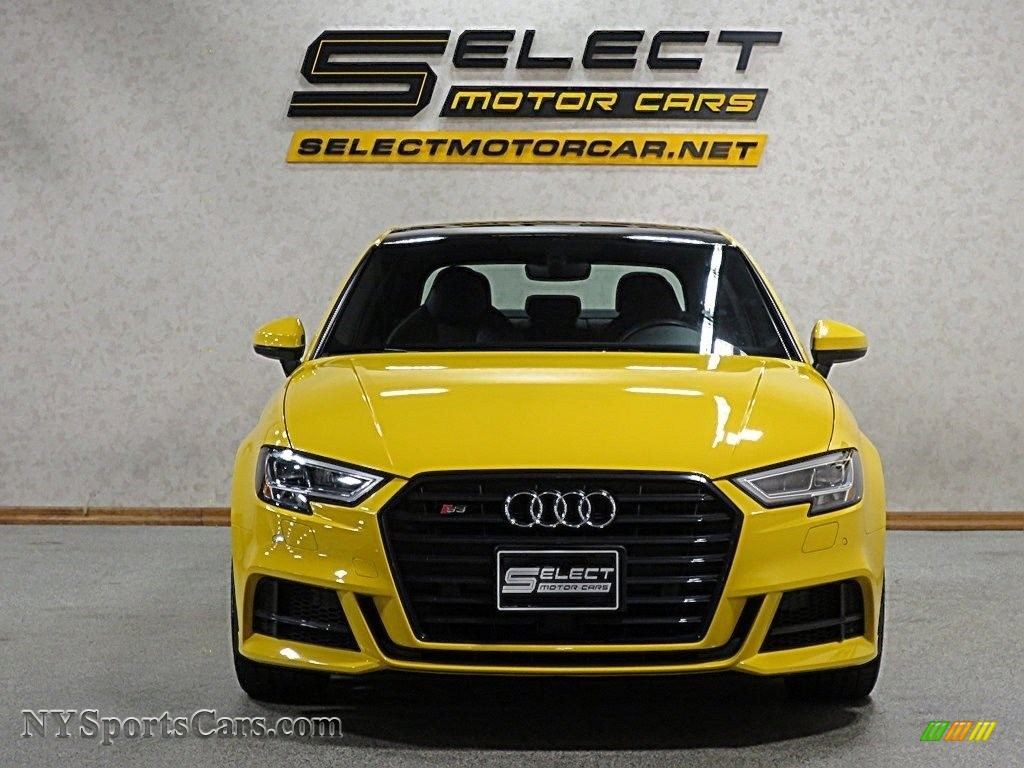 2018 S3 2.0T Tech Premium Plus - Vegas Yellow / Black photo #2