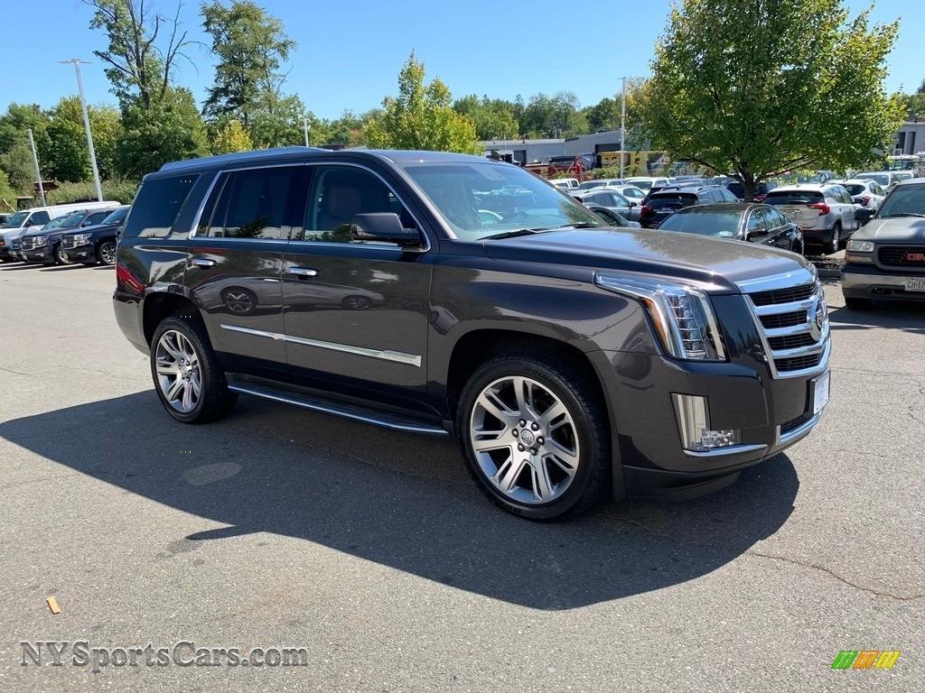 2015 Escalade Luxury 4WD - Gray Silk Metallic / Kona Brown/Jet Black photo #1