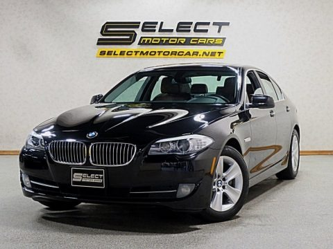 Jet Black 2013 BMW 5 Series 528i xDrive Sedan