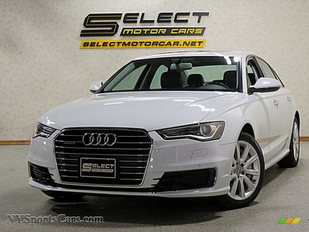 2016 A6 2.0 TFSI Premium Plus quattro - Ibis White / Black photo #1